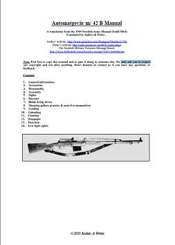 Automatgevär m/ 42 B Manual