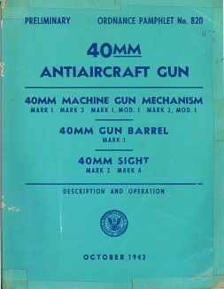 40mm Bofors AA gun manual (US Navy, 1943)