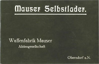 Mauser Selbstlader manual (in German)