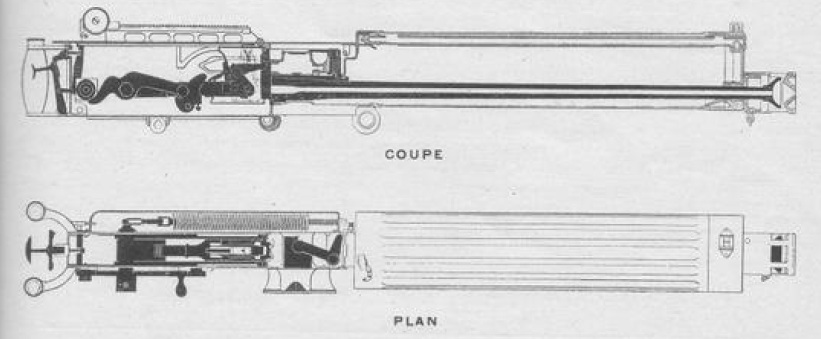 1909 Vickers machine gun cutaway view