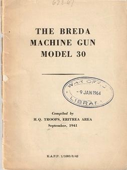 Breda Model 30 manual (English, 1941)