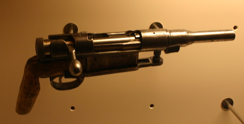 Obrez made from a Type 38 Arisaka rifle
