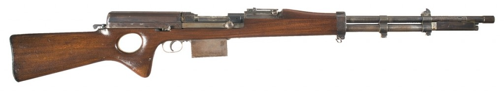 Snabb conversion of a 1903 Springfield rifle (right)