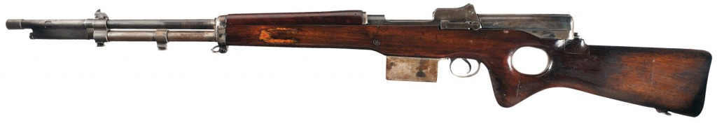 Snabb conversion of a 1917 Enfield rifle (left)