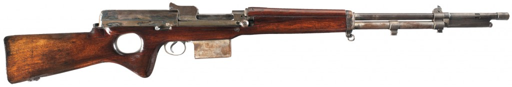 Snabb conversion of a 1917 Enfield rifle (right)
