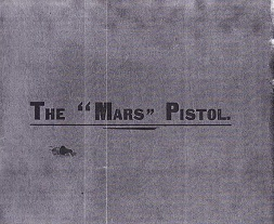 Mars Pistol Manual (English, 1902)