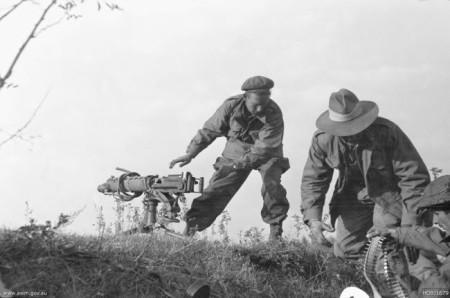 Australian Vickers gun in Korea, October 1950