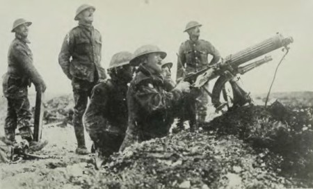 Vickers gun during WWI