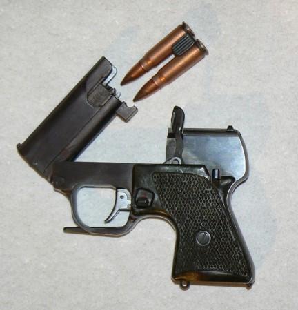 MSP pistol opened for loading