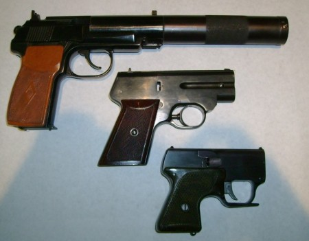 Soviet silenced pistols: 9x18 PB pistol, S4M, and MSP