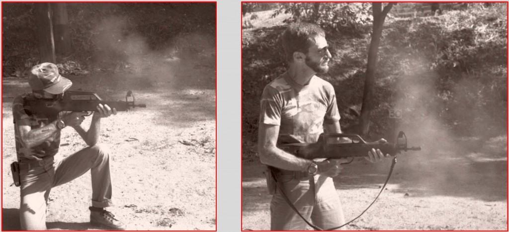 Author shooting the LAPA FA Modelo 03