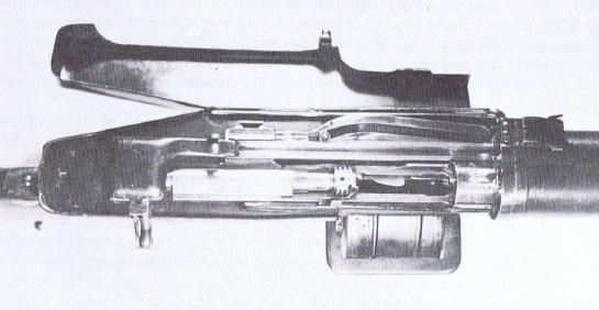 View inside the Huot breech