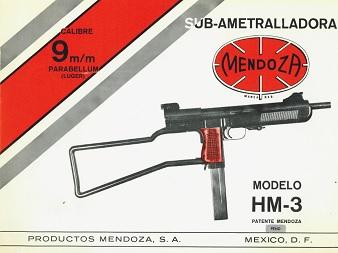Pistola Ametralladora Mendoza Hm3cover