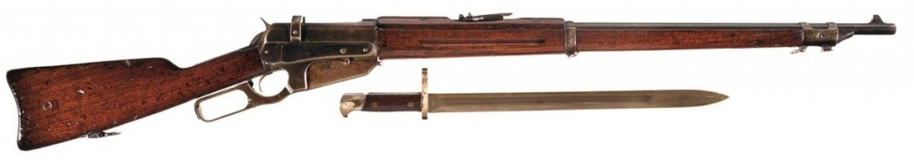 Russian-contract Winchester 1895 with bayonet