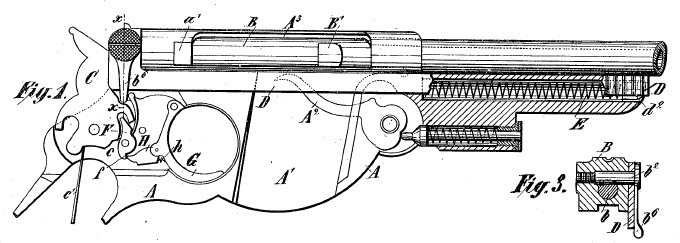 Bergmann 1894 patent drawing
