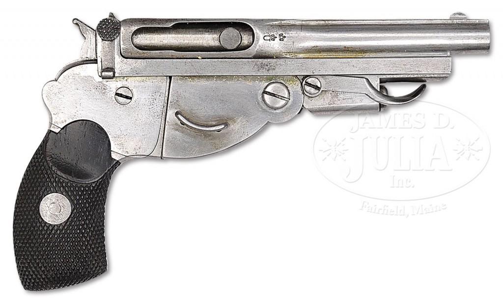 Un-numbered Bergmann No.1 pistol in 5mm