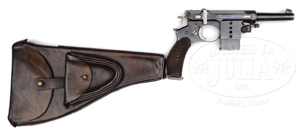 Bergmann No.5 pistol with shoulder stock