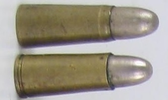 5mm Bergmann cartridges, with and without extractor grooves.