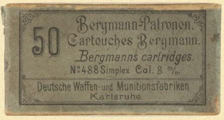 Bergmann Simplex 8x18mm ammo box