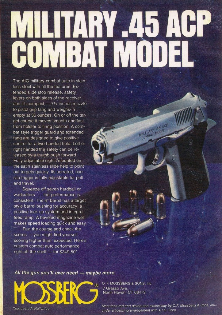 Original Mossberg ad for the Combat Model .45
