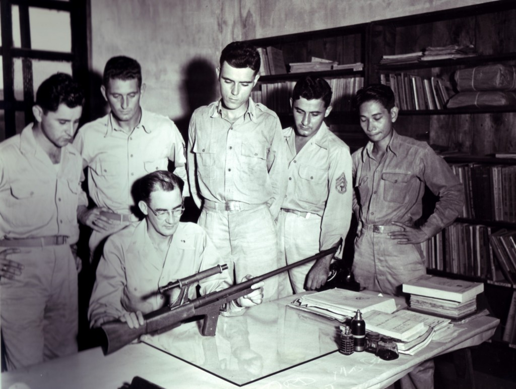Model 45A being examined in the Manila Ordnance Technical office (October 1945)