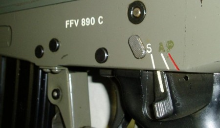 FFV-890C, Model-2, Left side with cross-safety button
