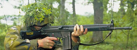 AK4 Rifle - Swedish copy of HK-G3