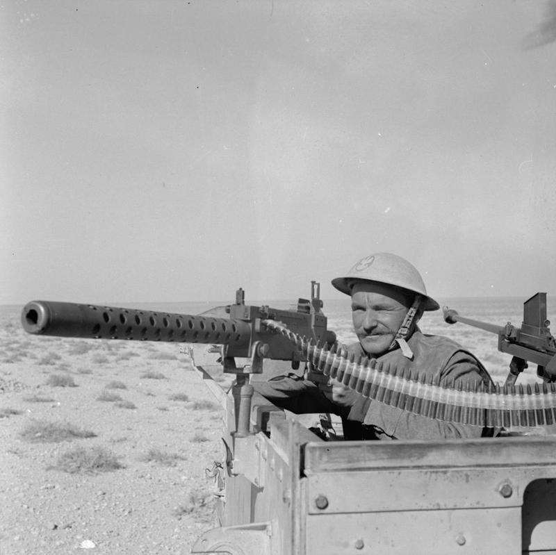 Polish soldier on the line near Gazala, Libya - February 1942