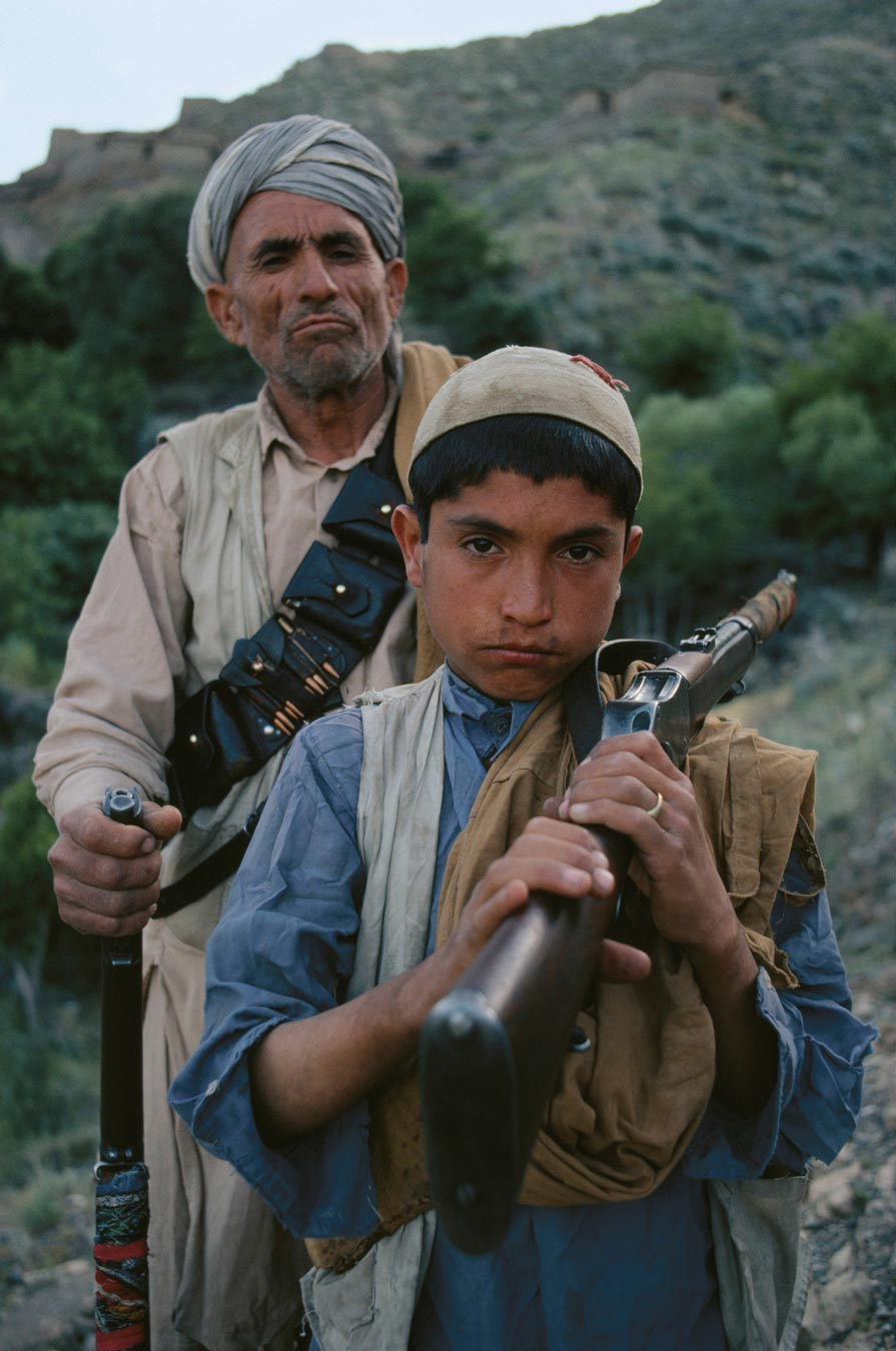 Father (Grandfather?) and Son in Afghanistan with a Martini and an SMLE