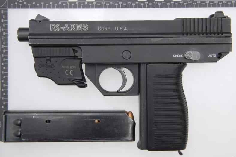 """R9 Arms"" machine pistol"