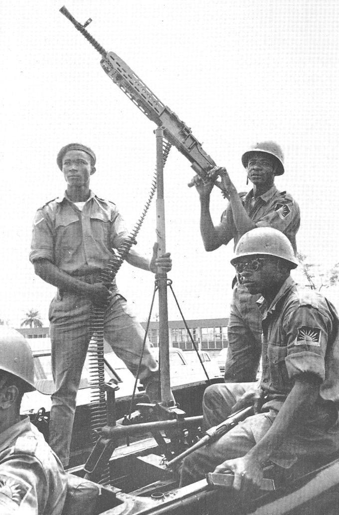 Biafran troops, circa 1968