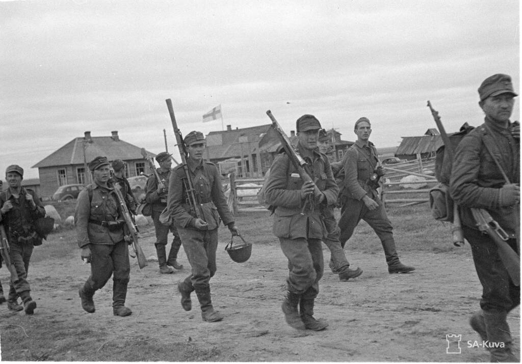 Finnish troops marching