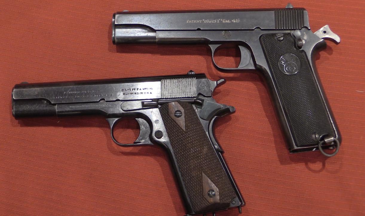 early ruby 45 acp pistol forgotten weapons rh forgottenweapons com Handles for a Llama 45 1911 Llama 45 Cal Magazine